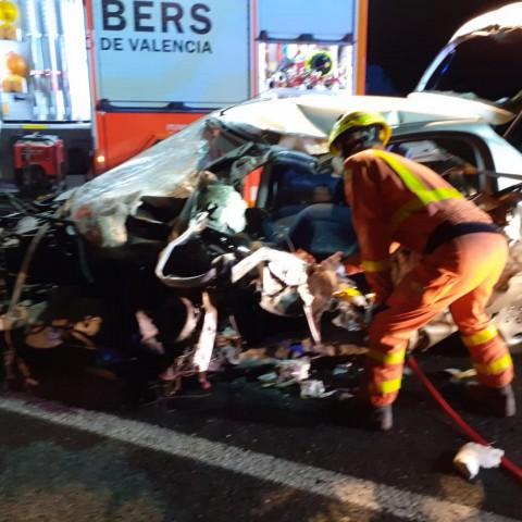 Accident moral a la Pobla del Duc. Bombers de València.