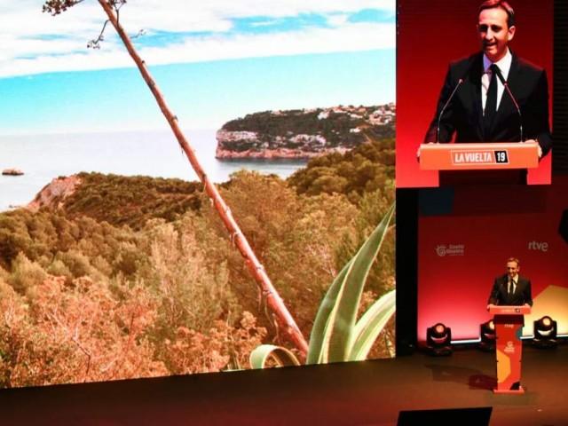 El president de la Diputació, César Sánchez, en la presentació en l'ADDA
