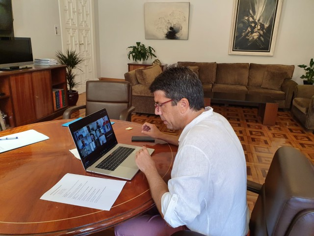 Imatge de la reunió telemàtica / PP d'Alcoi i Diputació d'Alacant