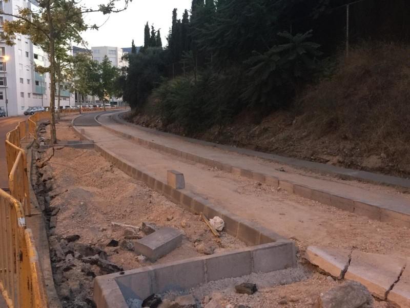 Construcció de la via ciclopeatonal / AM
