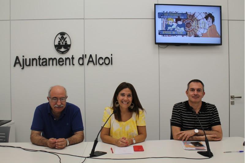Pedro Juan Parra, Lorena Zamorano i Faust Ripoll / Ajuntament d'Alcoi