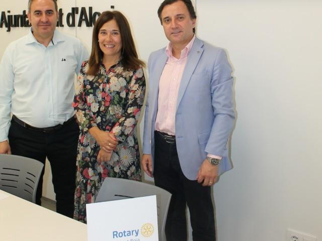 Ramón Reche, Lorena Zamorano i Pedro García / Ajuntament d'Alcoi