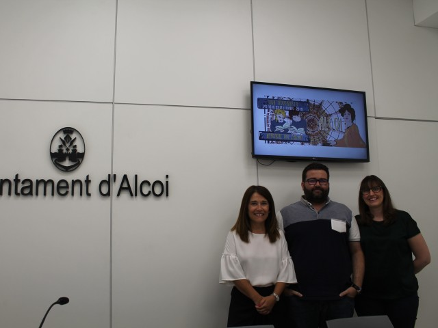 Lorena Zamorano, Lluís Vidal i Elisa Beneyto / Ajuntament d'Alcoi