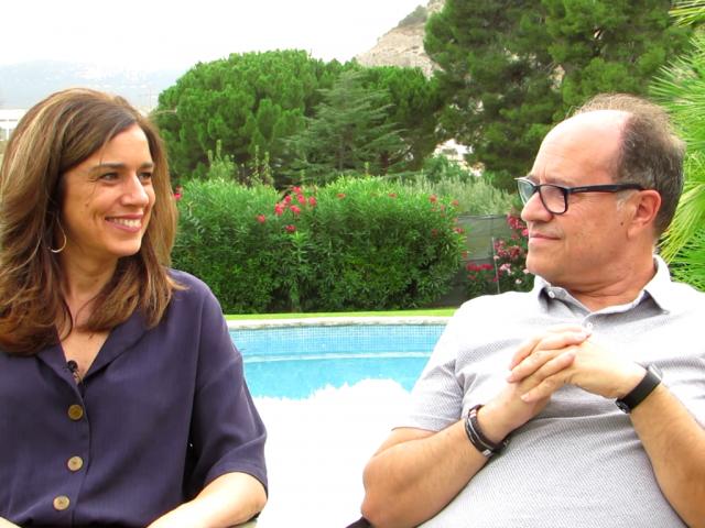 Guzman Bernabeu (dreta) i Loreto Gisbert (esquerra), president i vicepresidenta de l'AC Alcoi Modernista.