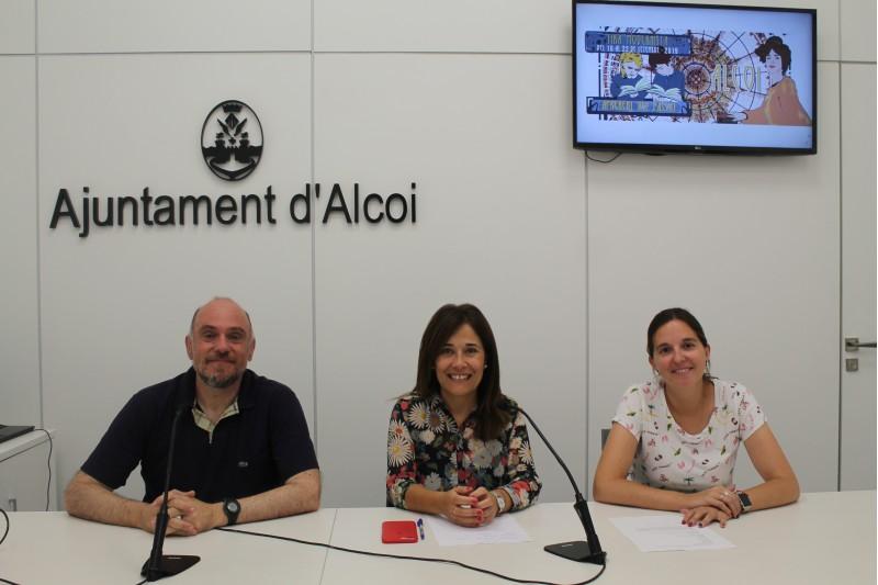 Gabriel Barrachina, Lorena Zamorano i Ana Mari Company presenten el teatre / Ajuntament