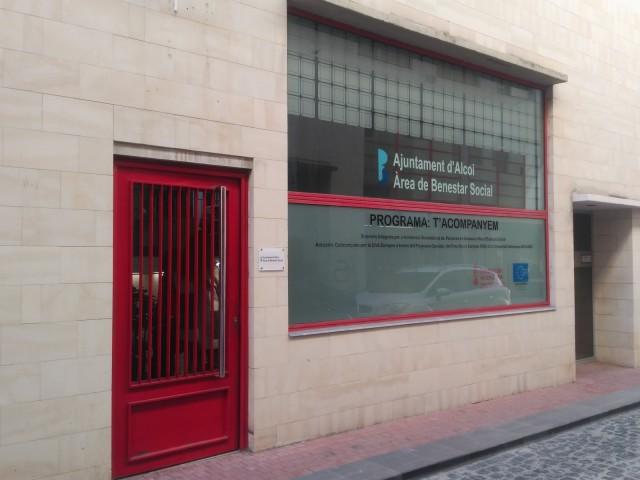 Instal·lacions del departament de Benestar Social en el Centre d'Alcoi