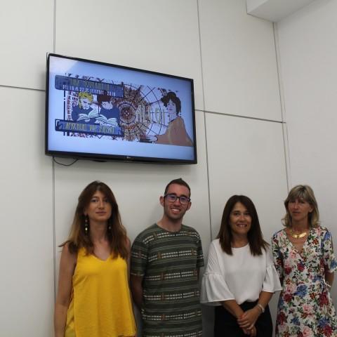 Jonathan Vicens, Lirios Reig i Mariola Reig, del Sant Jordi, i la regidora de turisme, Lorena Zamorano / Ajuntament