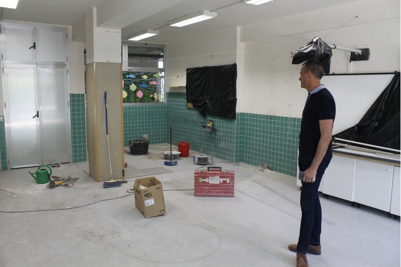 Imatge d'arxiu de les obres fetes per adequar l'aula de dos anys al col·legi Horta Major d'Alcoi, finalitzades des del curs passat, però que no entrarà en funcionament fins al curs 2020-2021