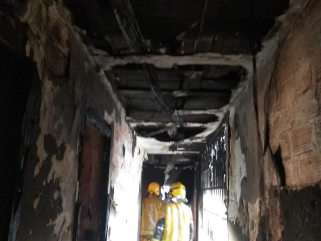 Foto d'arxiu d'un habitatge calcinat pel foc.