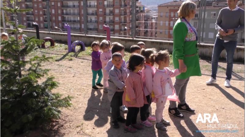 Alumnes d'Infantil del CEIP Horta Major.