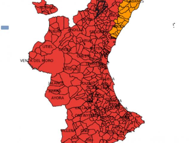 Mapa de risc d'incendir per dimecres 7 d'agost / GVA 112 CV