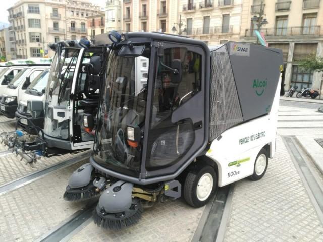 Maquinària de neteja per als carrers d'Alcoi