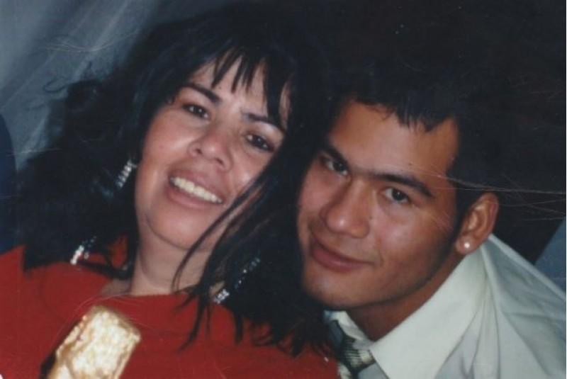 Víctor Parada amb sa mare.