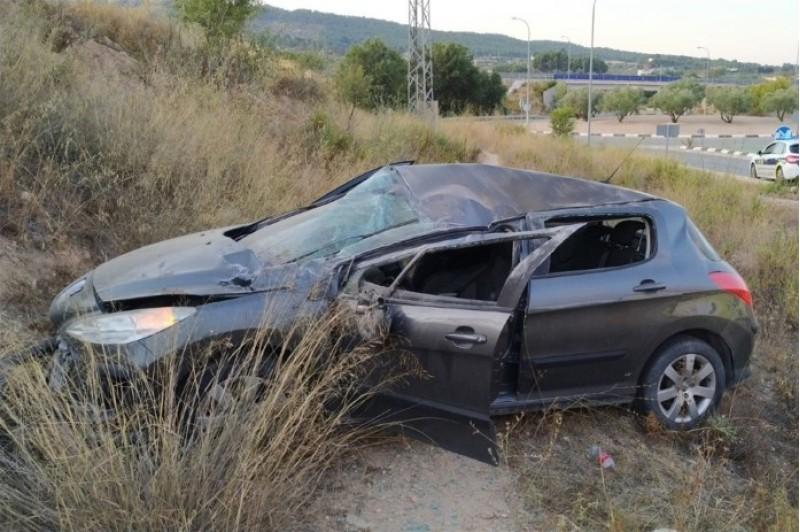 Cotxe accidentat / Policia Local d'Ibi
