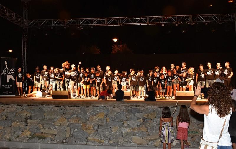 Instantània del concert de cloenda, celebrat al Barranc de la Font.