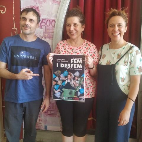 La directora Pepa Miralles amb els dos actors