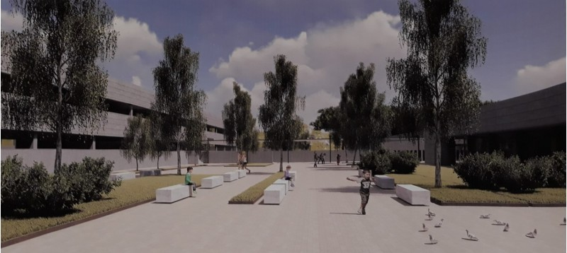 Reconstrucció del futur col·legi Bracal de Muro.