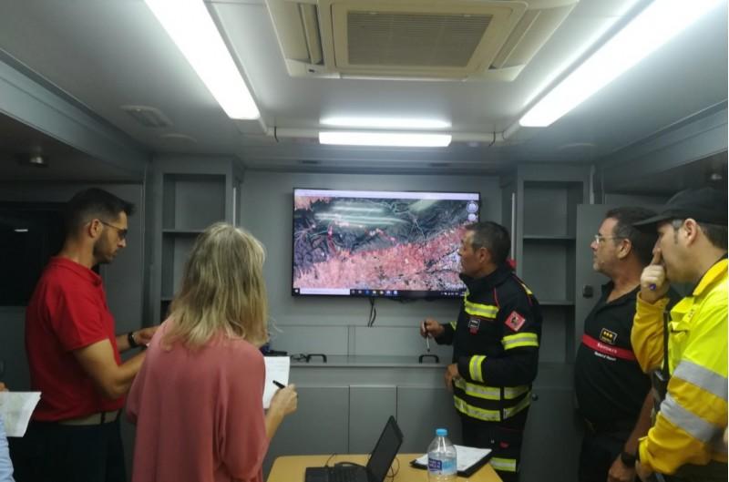 Sala de control a l'incendi de Beneixama
