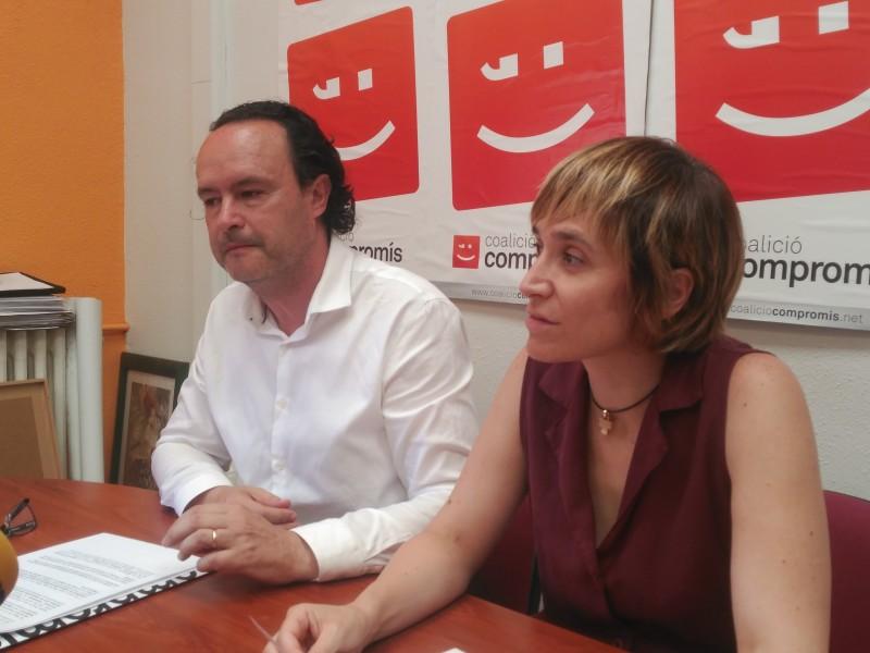 Els números 1 i 2 de Compromís Alcoi, Màrius Ivorra i Elisa Guillem.