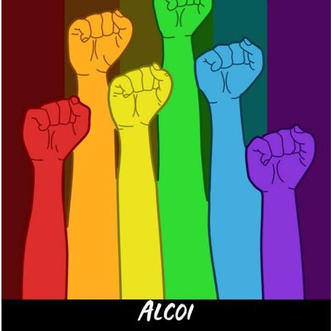 Concentració a Alcoi pels dretsLGTBI+