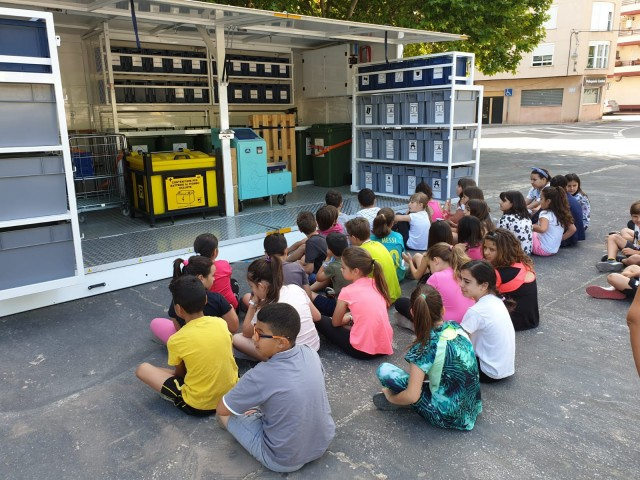 Alumnesd'ElBracal de Muro visiten l'ecoparc mòbil