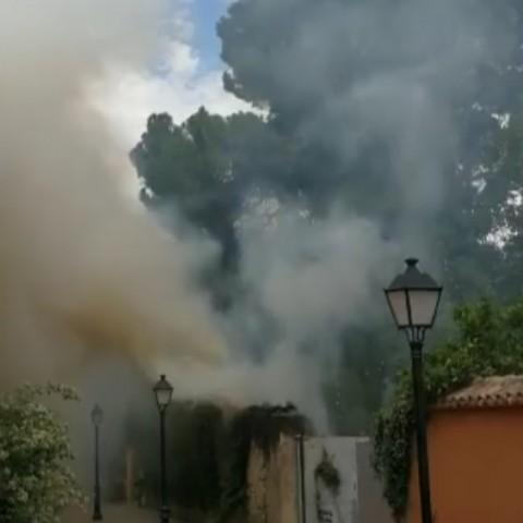 Incendi al Parc d'El Batà de Muro. Vídeo de Whatsapp, autor desconegut.