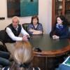 L'alcaldessa amb els tècnics que redactaran el projecte