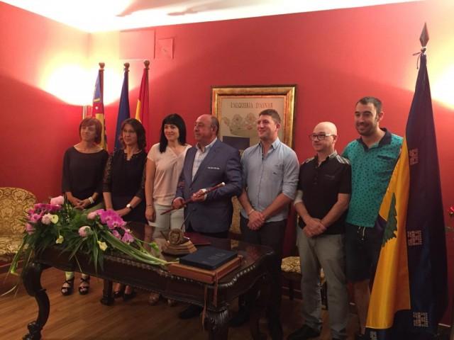 Jaume Pascual en el moment de possesió del càrrec