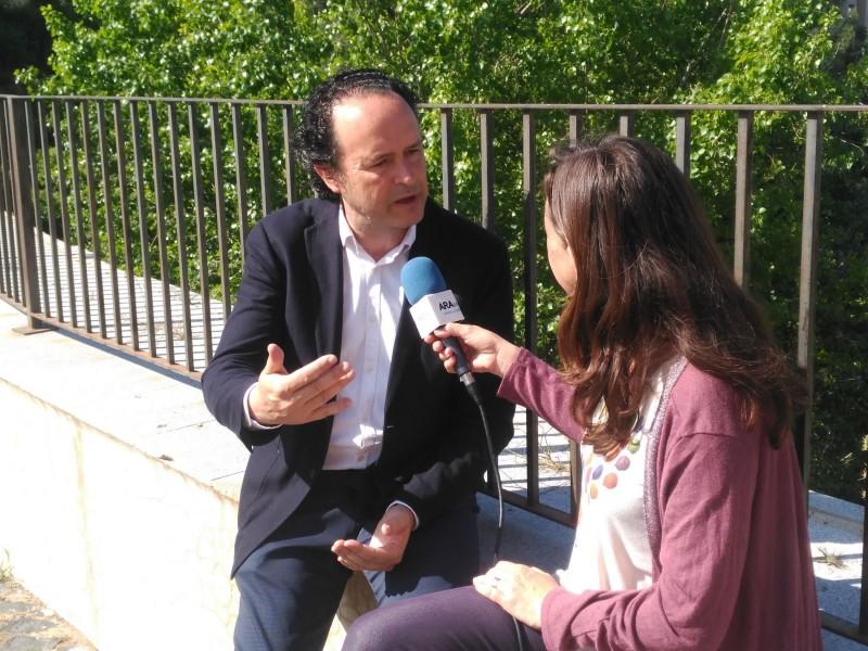 Màrius Ivorra en una entrevista per a AM