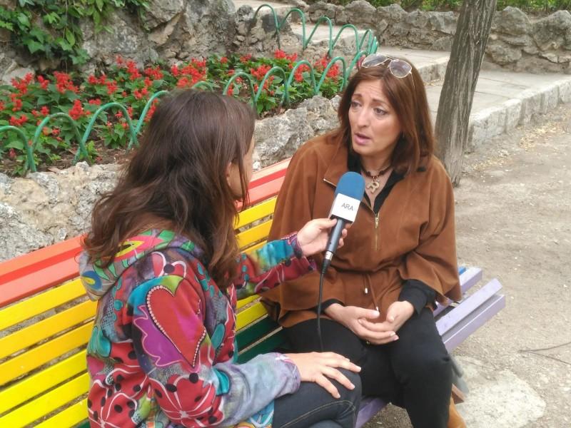 La egidora Rosa García en una entrevista per a ARAMULTIMÈDIA. Imatge d'arxiu
