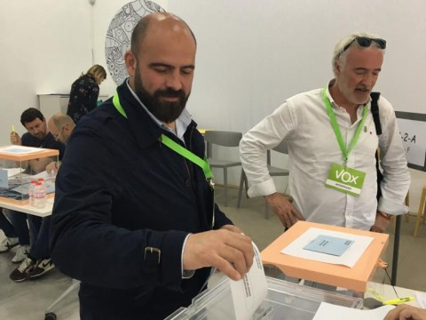 David Abad, candidat de VOX Alcoi