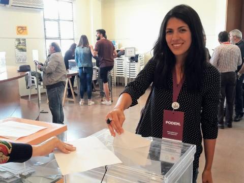 Naiara Davó, candidata de Podem Alcoi