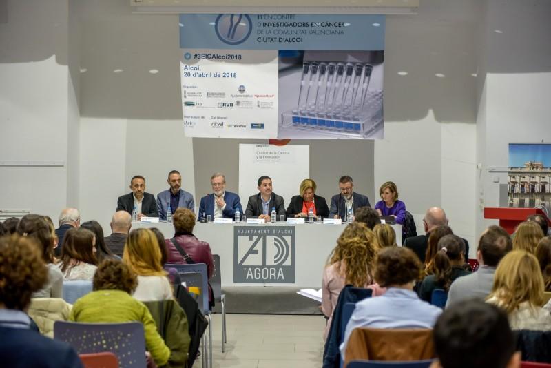III trobada d'investigadors en càncer 'ciutat d'Alcoi', celebrada en 2018.