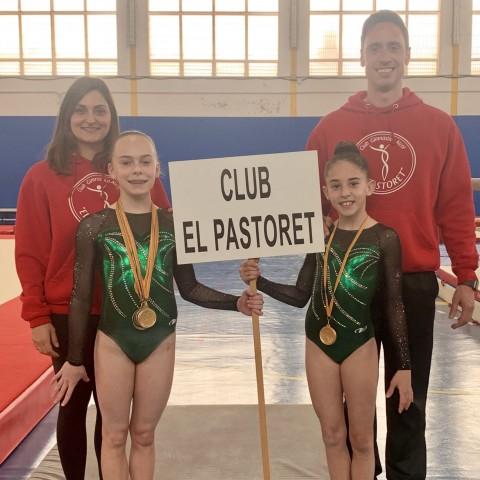 Campiona i subcampiona del Club El Pastoret al Campionat Provincial de Gimnasta Artística