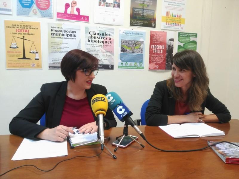 Estefania Blanes (esquerra) i Sandra Obiol (dreta) aposten per coordinar la política municipal amb l'autonòmica.