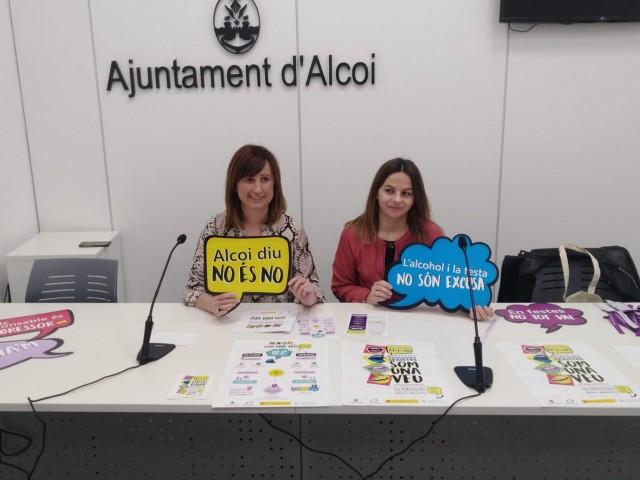 """Es presenta la campanya de prevenció d'agressions sexuals """"Alcoi Diu No És No"""""""