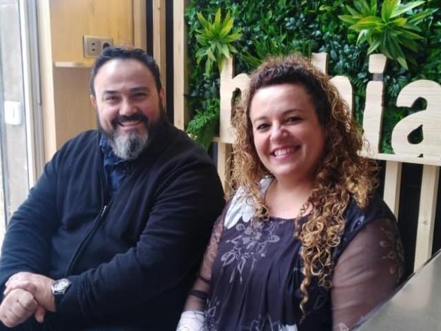 Jorge Candela i Tina Maza, uns mallorquins amb sang molt festera