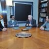 L'acord l'han signat el rector de la UPV (centre esquerra) i l'alcalde de Bocairent (centre dreta).