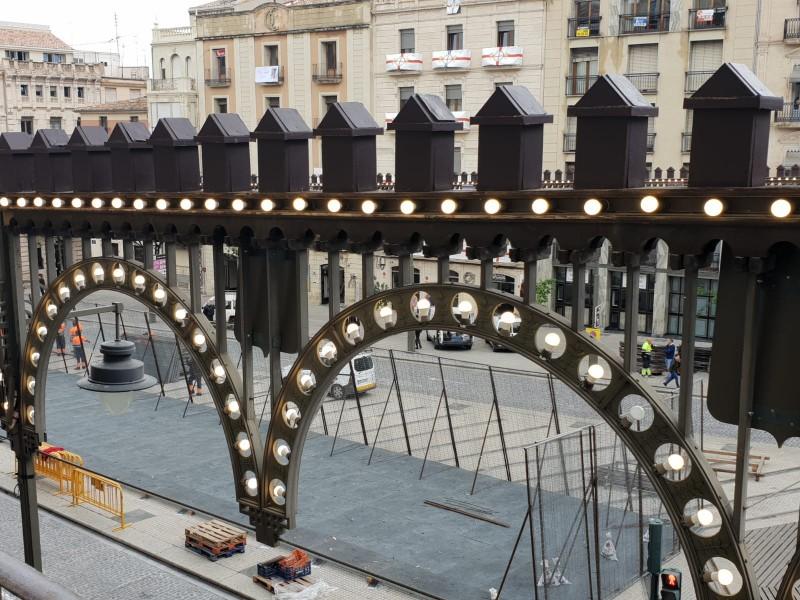Enramada a la plaça d'Espanya.