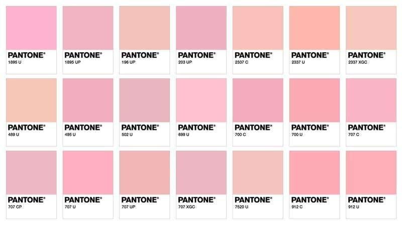 Diferents tonalitats de rosa que podrien presentar les paperetes.