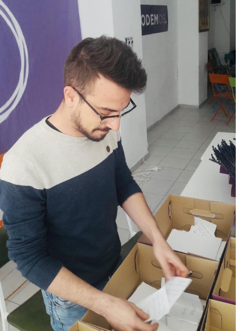 AaronFerrándiz, Candidat de Podem Alcoi a l'Ajuntament i membre de l'executiva municipal.