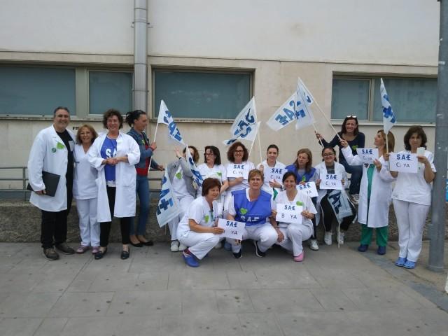 Concentració d'aquest 8 de maig a les portes de l'Hospital Verge dels Lliris.