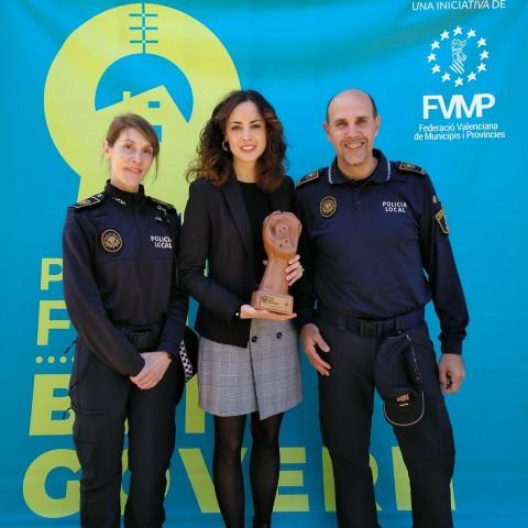 """El grup Minerva de la Policia Local de Cocentaina ha rebut un dels """"Premis Bon Govern 2019"""""""