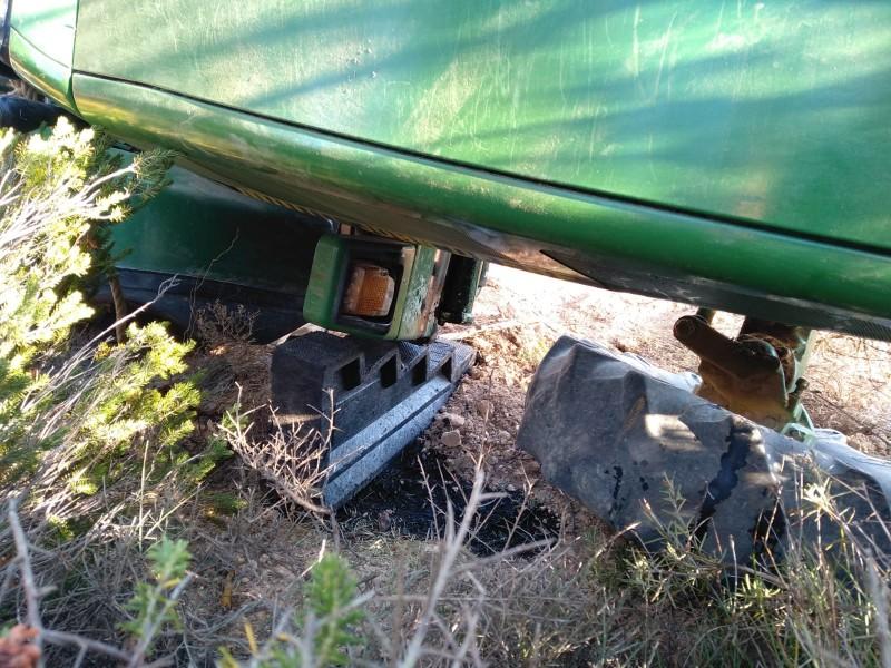 L'incident ha tingut lloc en un bancal de l'àrea de la Font de la Cova Negra.