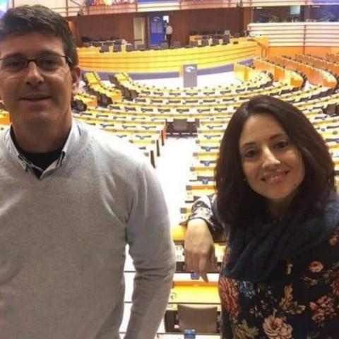 Jorge Rodrígue i Rebeca Torró, imatge publicada per Rodríguez en xarxes socials