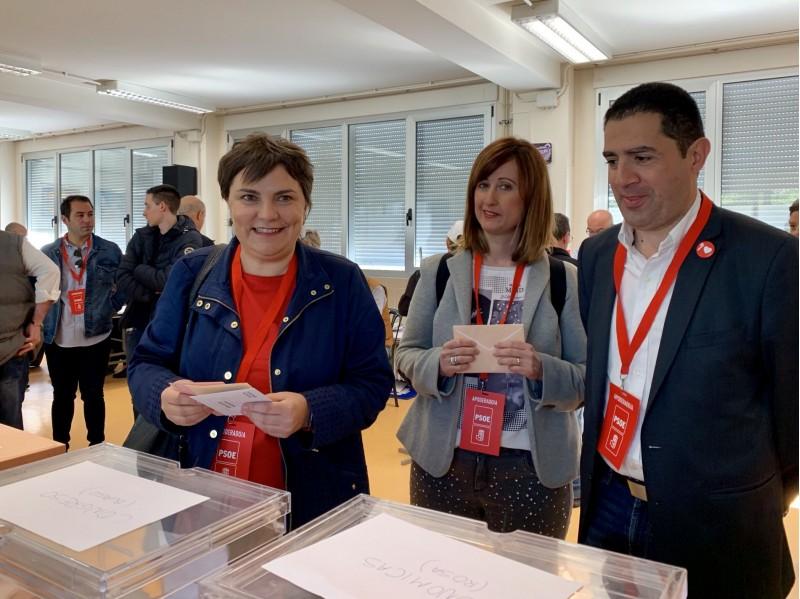 Patri Blanquer hui en el moment de la votació