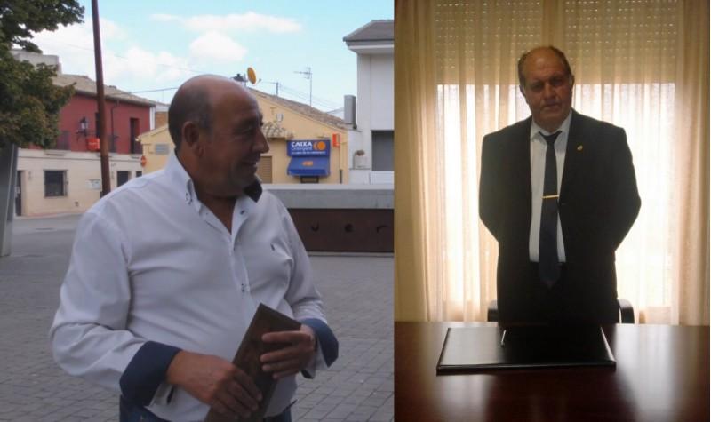Francesc Jaume Pascual, alcalde socialista de l'Alqueria d'Asnar (esquerra) i José Luis Seguí, alcalde popular d'Almudaina (dreta).