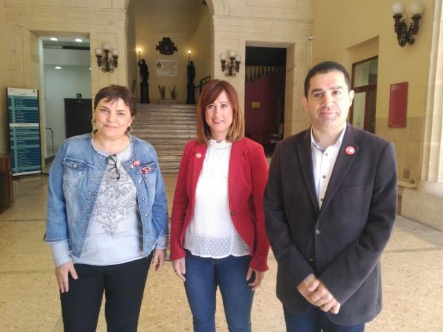 (d'equerra a dreta) Patri Blanquer, Aroa Mira i Toni Francés.