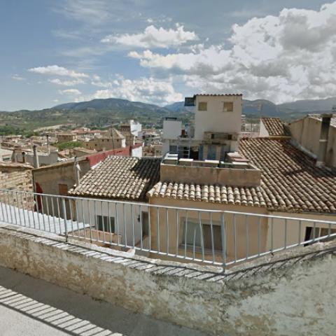 Vista de Cocentaina des del carrer Carabanxel.