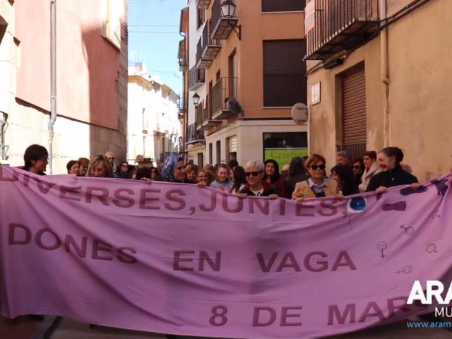 Cocentració feminista en Cocentaina el dia 8 de març de 2019.